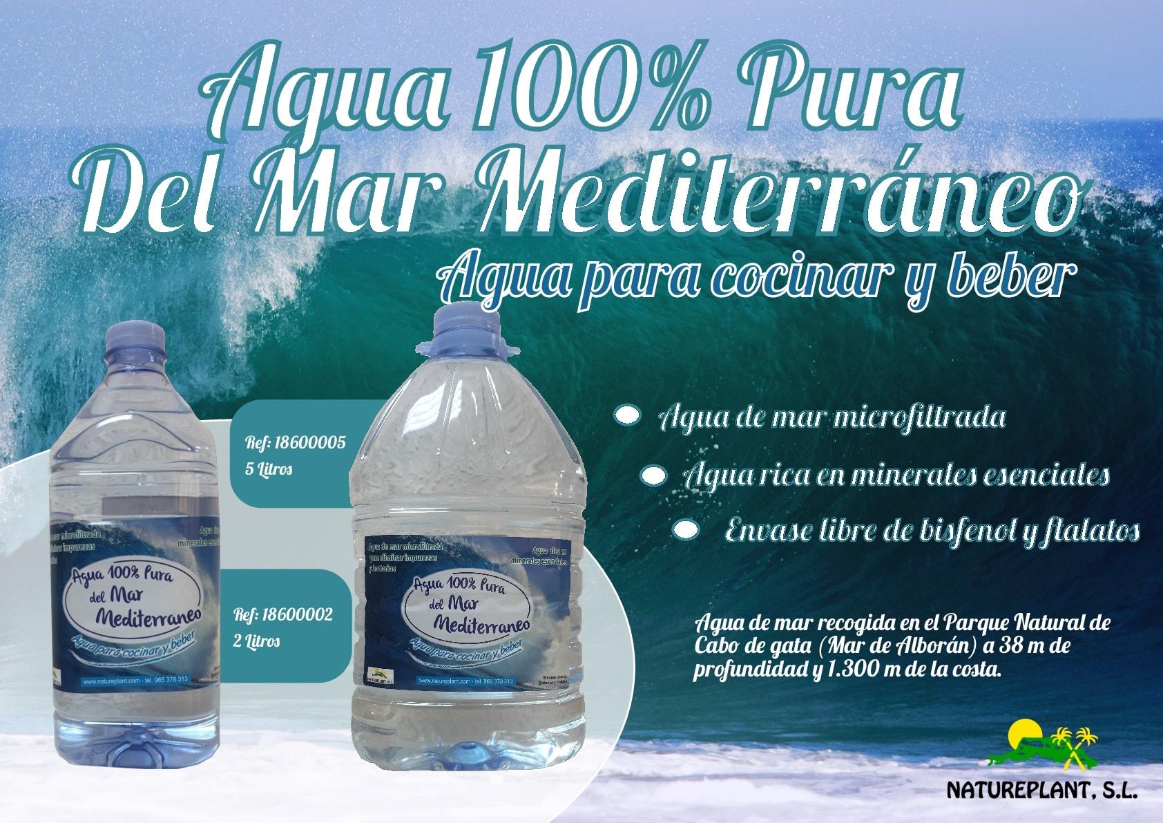 Resultado de imagen de natureplant agua de mar 2 litros