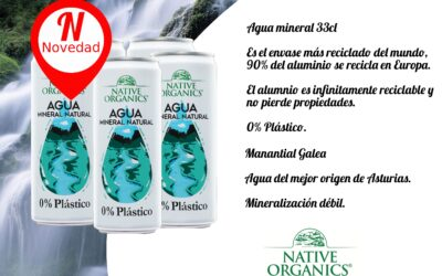 Agua Mineral Natural Native organics